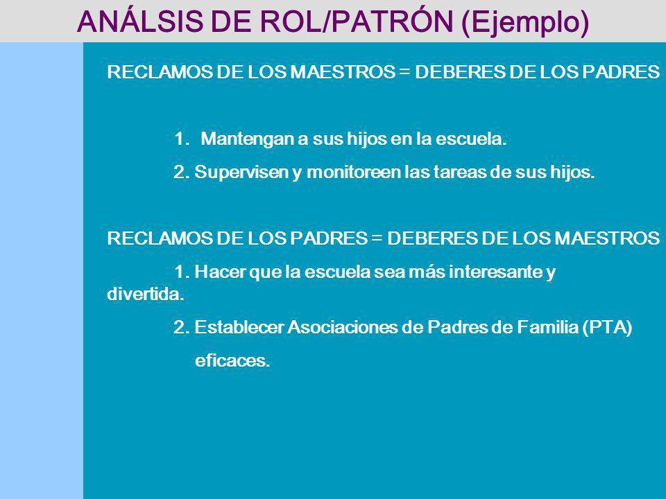 ANÁLSIS DE ROL/PATRÓN (Ejemplo)