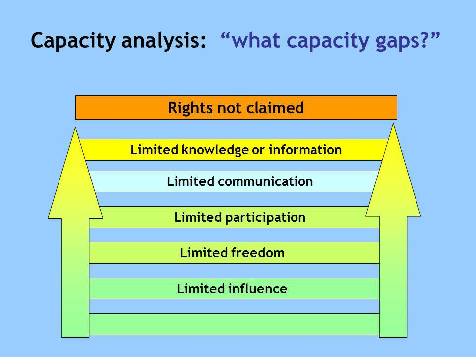 Capacity analysis: what capacity gaps