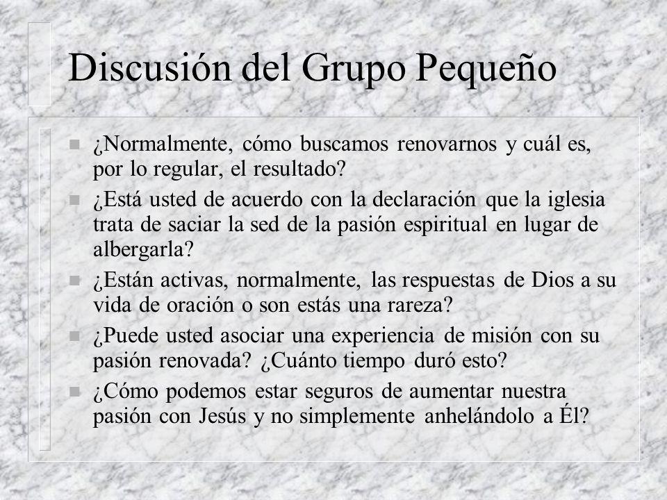 Discusión del Grupo Pequeño