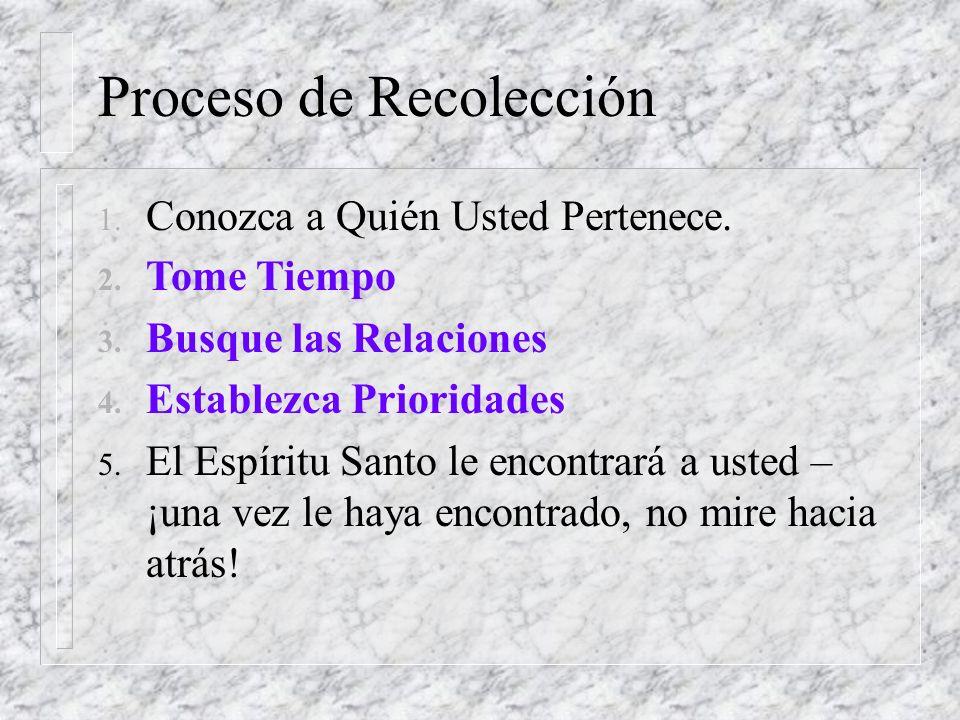 Proceso de Recolección