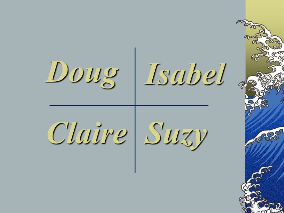 Doug Isabel Claire Suzy