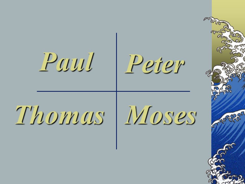 Paul Peter Thomas Moses