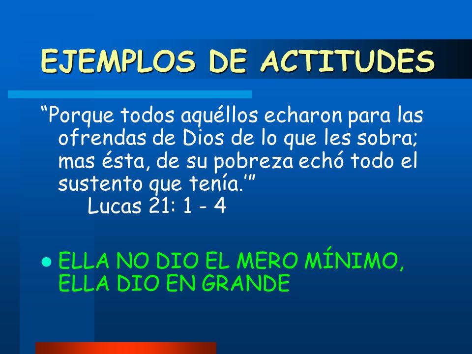 EJEMPLOS DE ACTITUDES