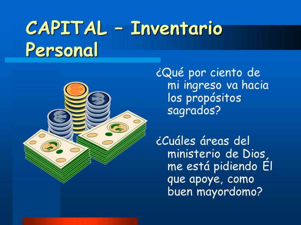 CAPITAL – Inventario Personal
