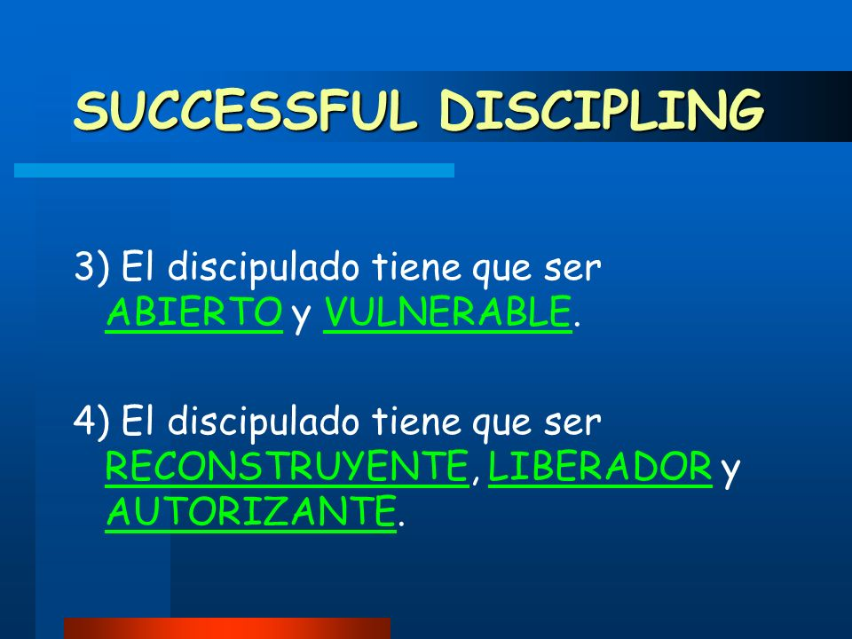 SUCCESSFUL DISCIPLING