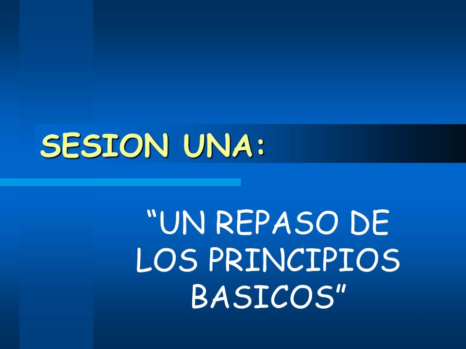 UN REPASO DE LOS PRINCIPIOS BASICOS