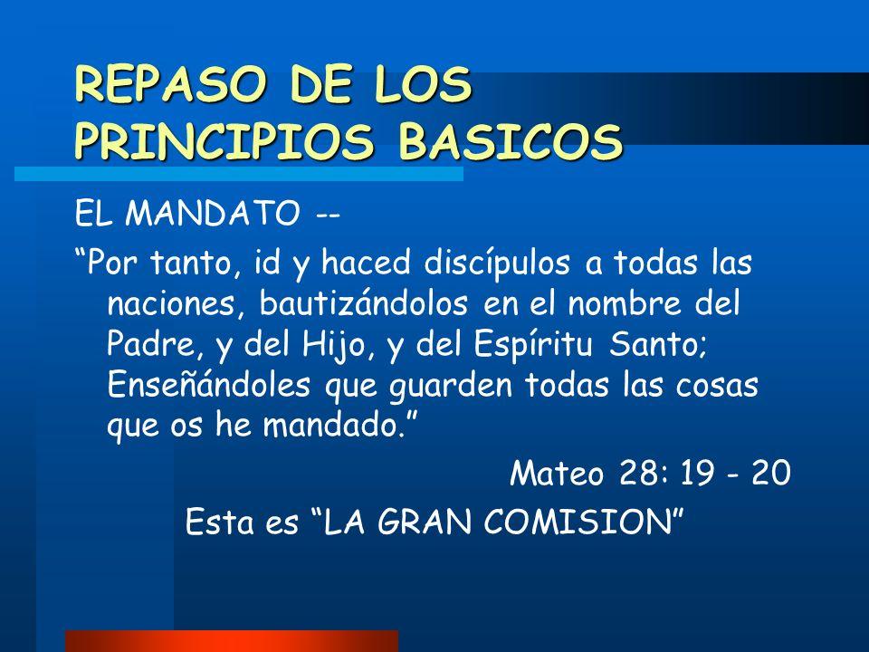 REPASO DE LOS PRINCIPIOS BASICOS
