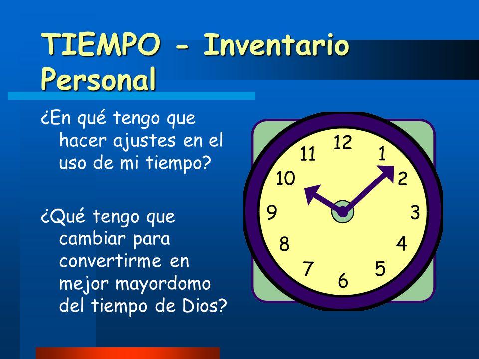TIEMPO - Inventario Personal