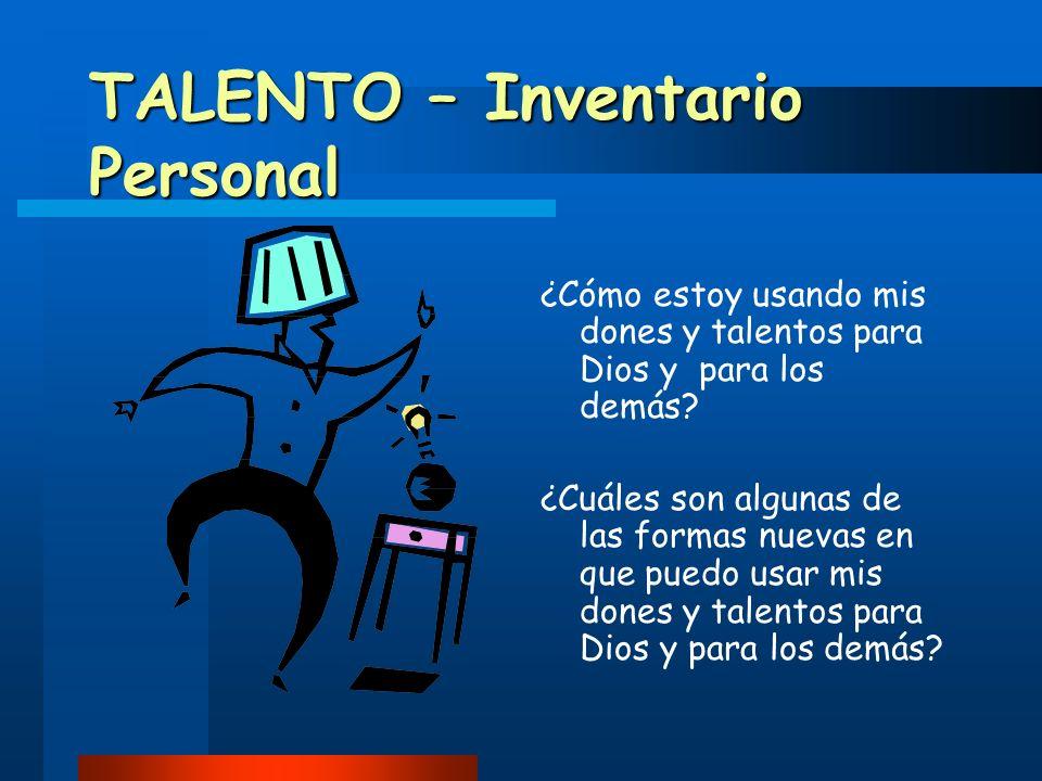 TALENTO – Inventario Personal