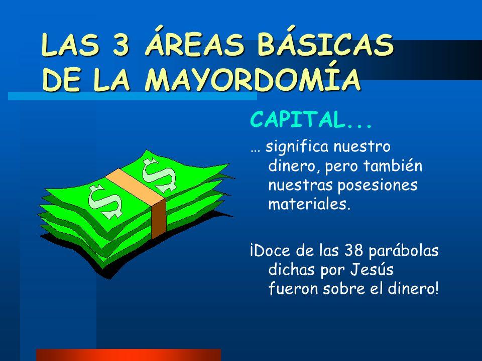 LAS 3 ÁREAS BÁSICAS DE LA MAYORDOMÍA