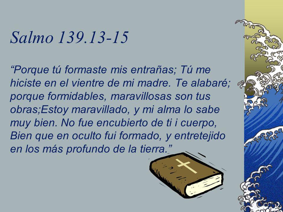 Salmo 139.13-15