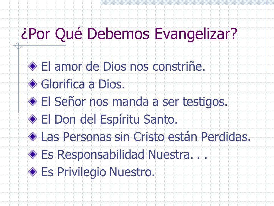 ¿Por Qué Debemos Evangelizar