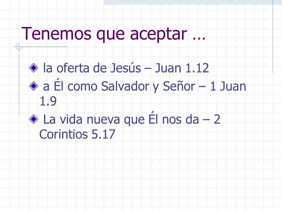 Tenemos que aceptar … la oferta de Jesús – Juan 1.12