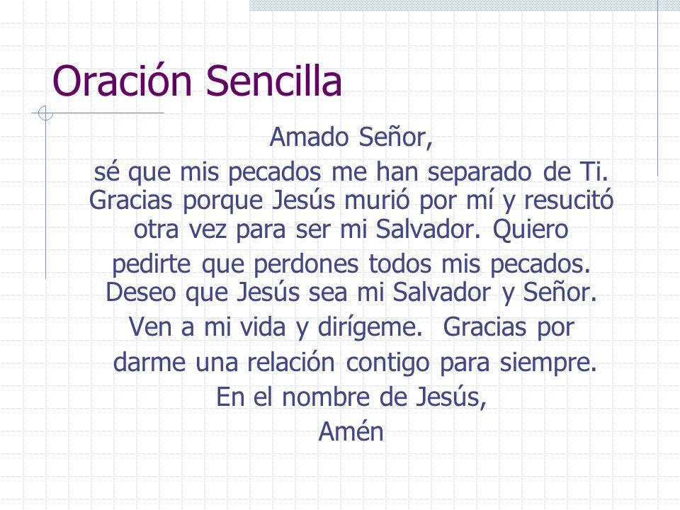 Oración Sencilla Amado Señor,
