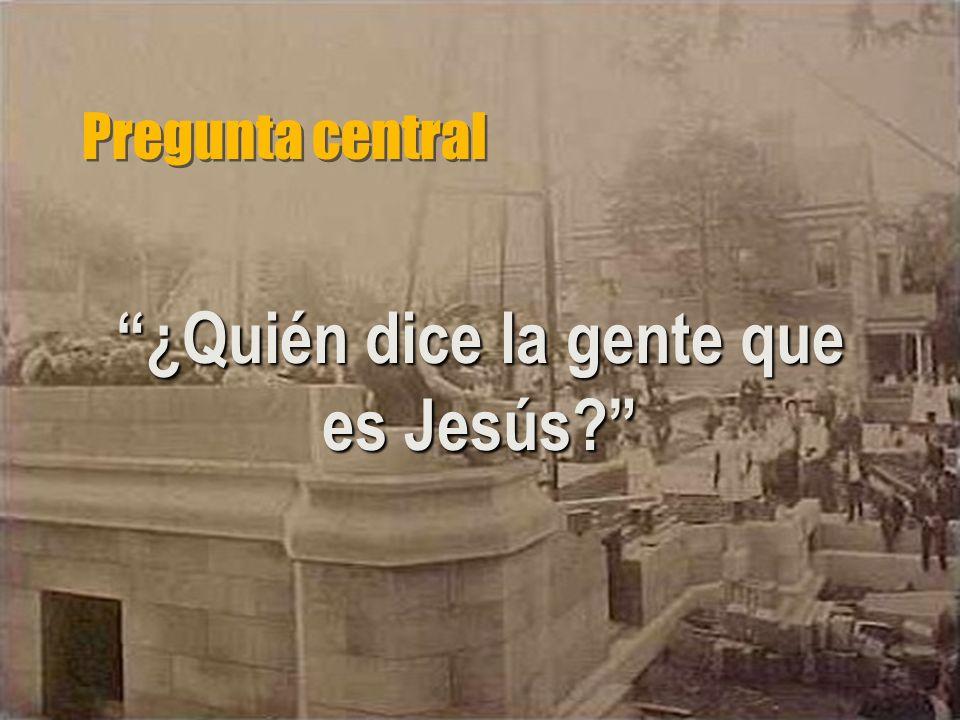 ¿Quién dice la gente que es Jesús
