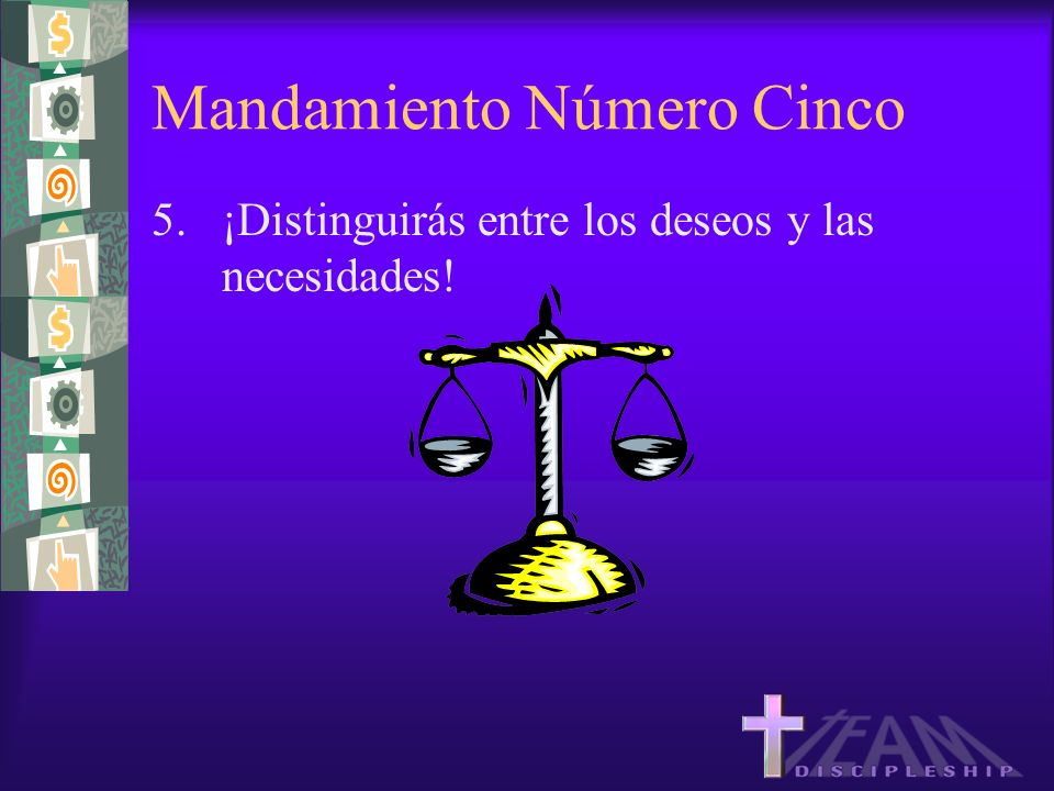 Mandamiento Número Cinco