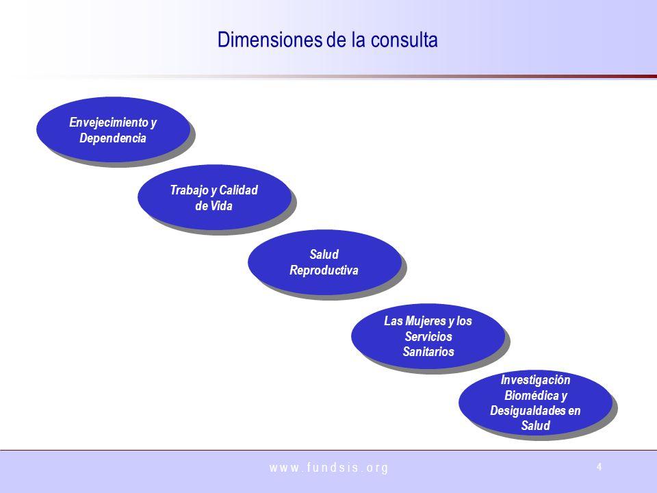 Dimensiones de la consulta