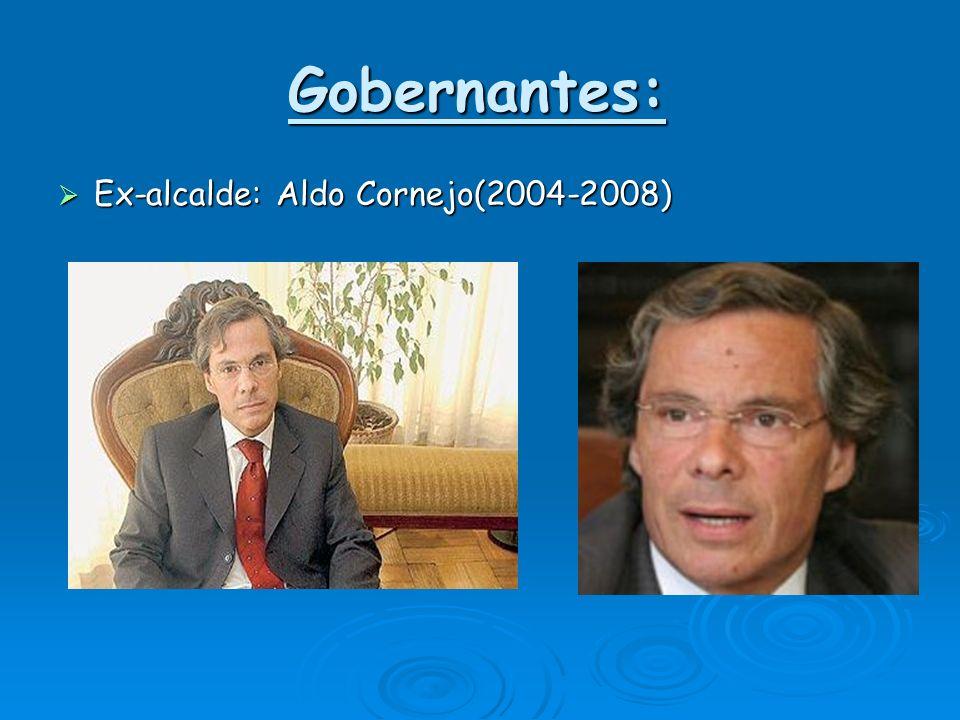Gobernantes: Ex-alcalde: Aldo Cornejo(2004-2008)