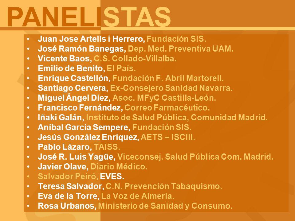 PANELISTAS Juan Jose Artells i Herrero, Fundación SIS.