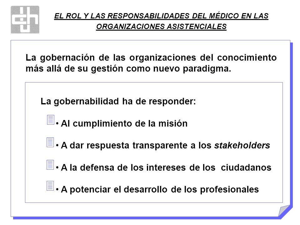 EL ROL Y LAS RESPONSABILIDADES DEL MÉDICO EN LAS ORGANIZACIONES ASISTENCIALES