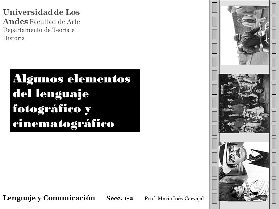 Algunos elementos del lenguaje fotográfico y cinematográfico