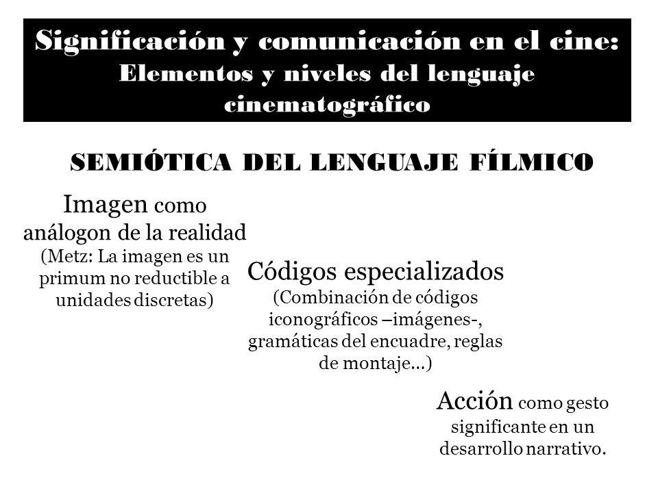 Significación y comunicación en el cine: Elementos y niveles del lenguaje cinematográfico