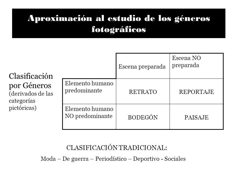 Aproximación al estudio de los géneros fotográficos