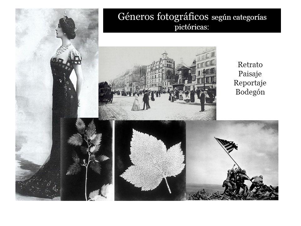 Géneros fotográficos según categorías pictóricas: