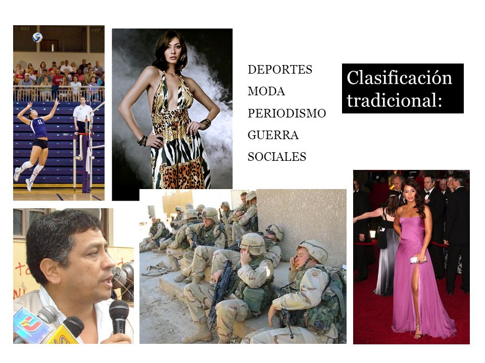 Clasificación tradicional: