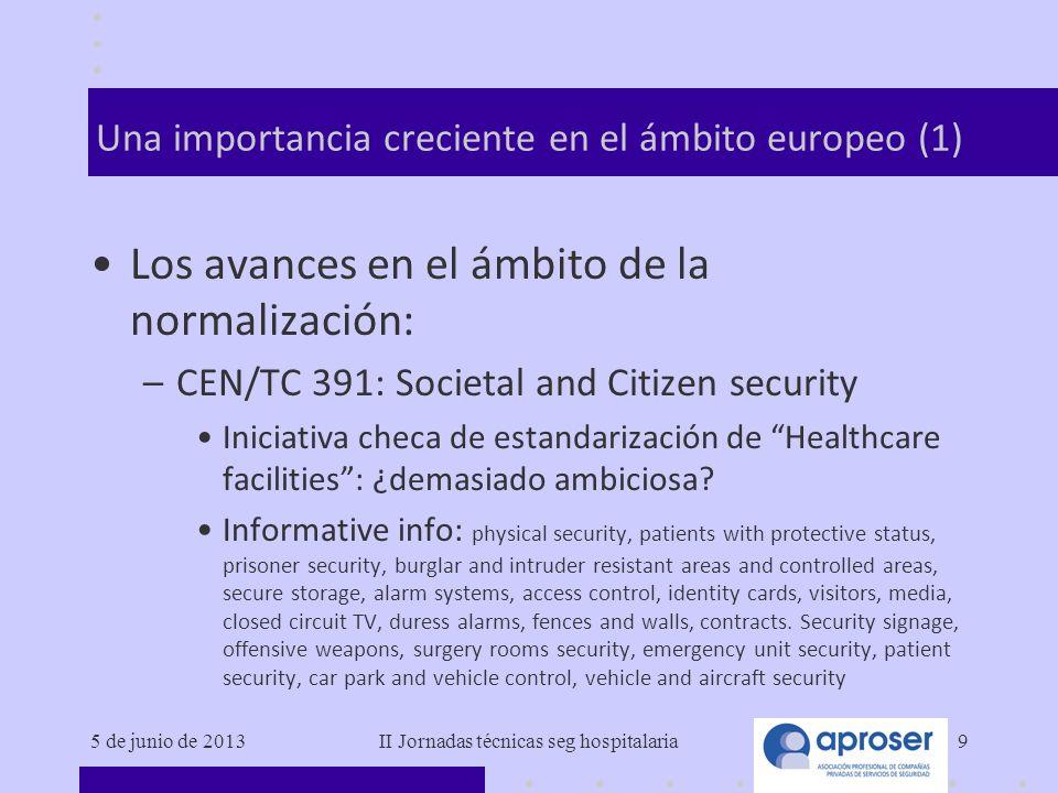 Una importancia creciente en el ámbito europeo (1)