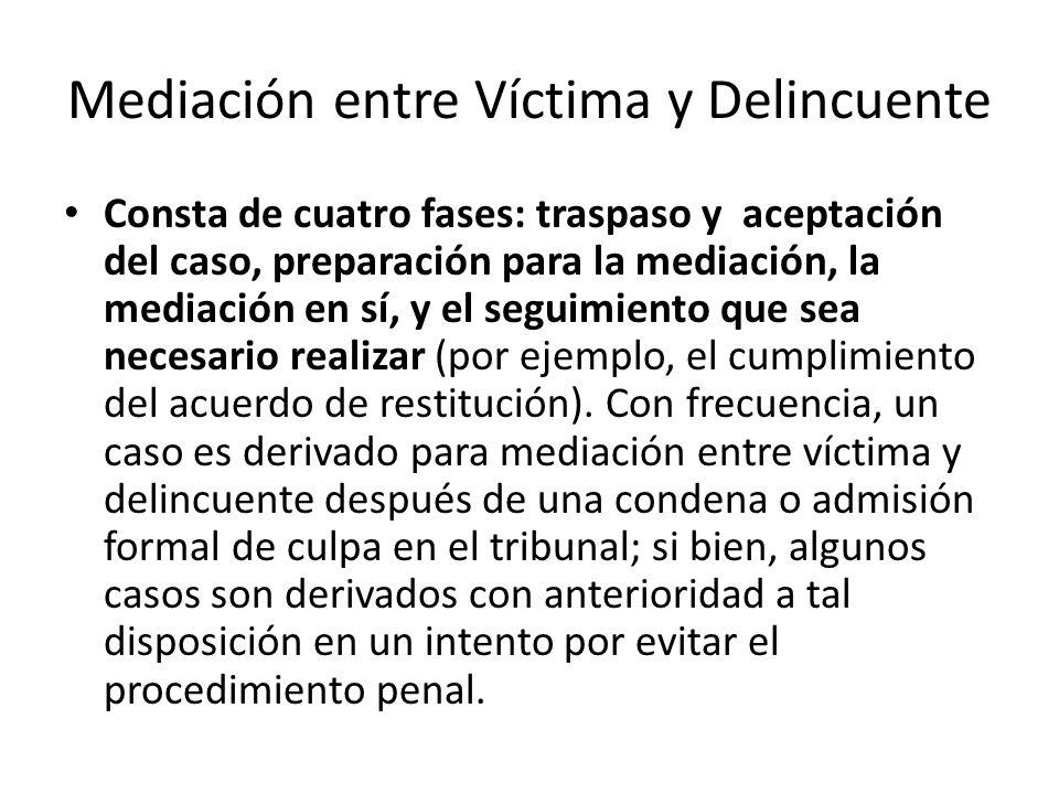 Mediación entre Víctima y Delincuente
