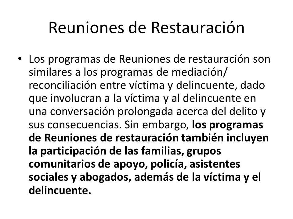 Reuniones de Restauración