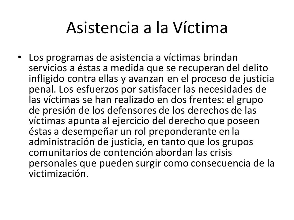 Asistencia a la Víctima