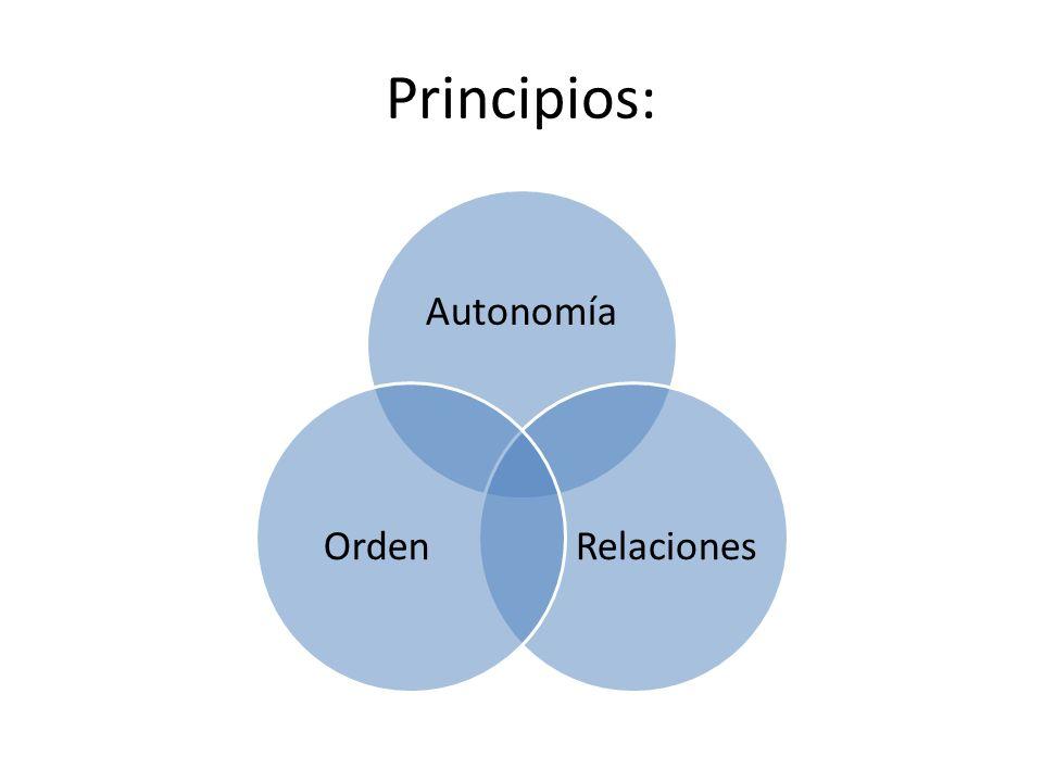 Principios: Autonomía Relaciones Orden
