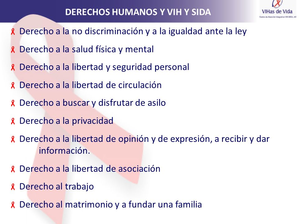 DERECHOS HUMANOS Y VIH Y SIDA