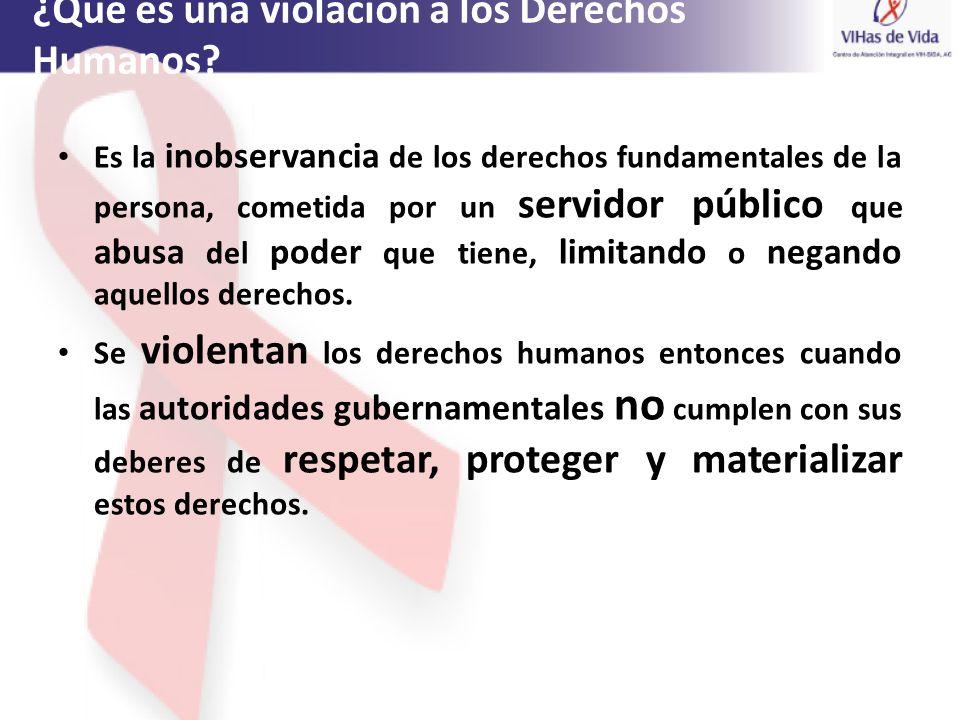 ¿Qué es una violación a los Derechos Humanos