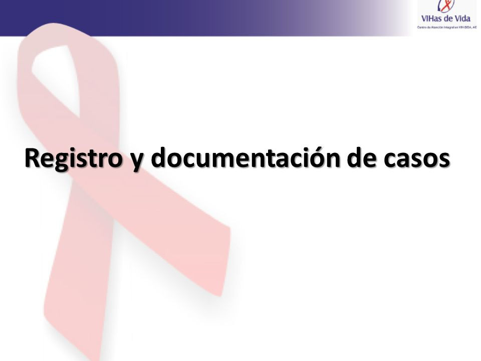 Registro y documentación de casos