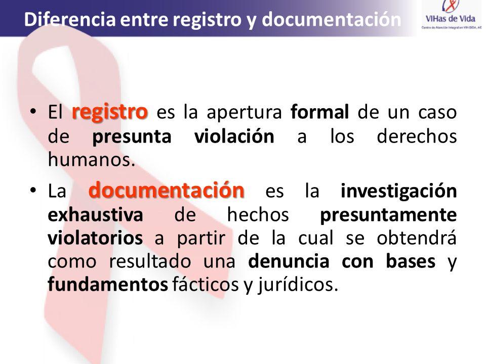 Diferencia entre registro y documentación