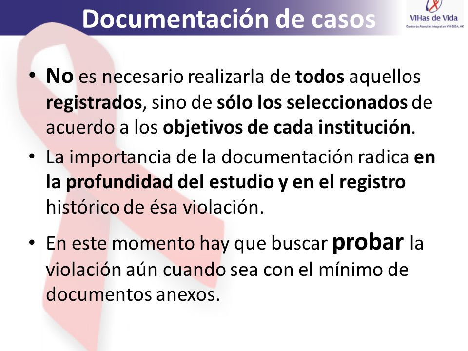 Documentación de casos