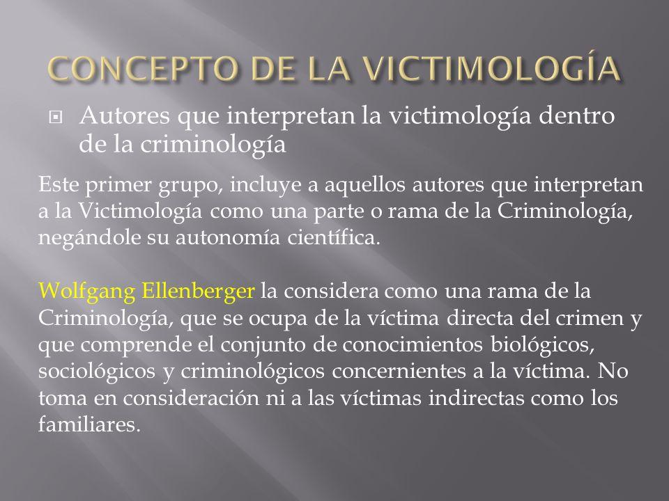 CONCEPTO DE LA VICTIMOLOGÍA