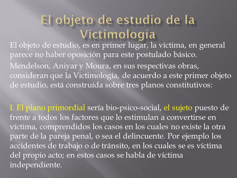 El objeto de estudio de la Victimología