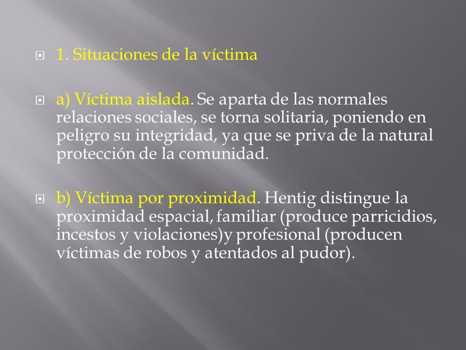 1. Situaciones de la víctima
