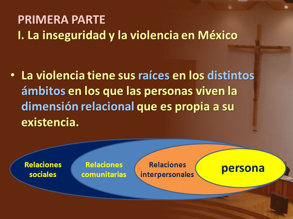 PRIMERA PARTE I. La inseguridad y la violencia en México