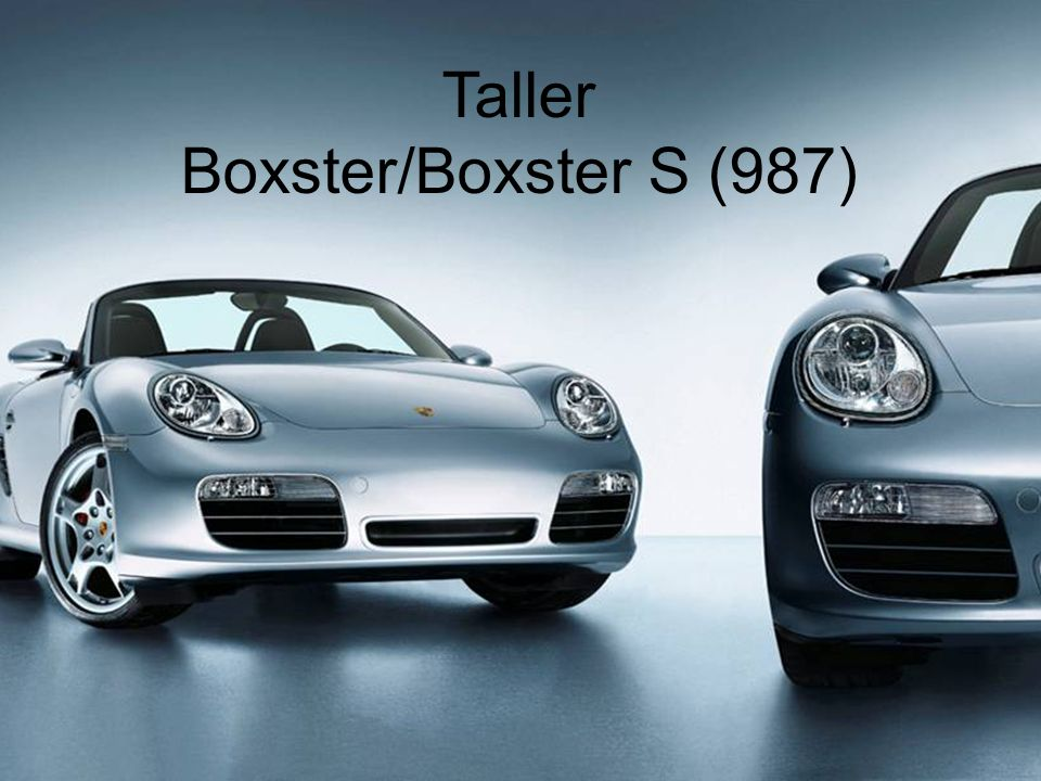 Taller Boxster/Boxster S (987)