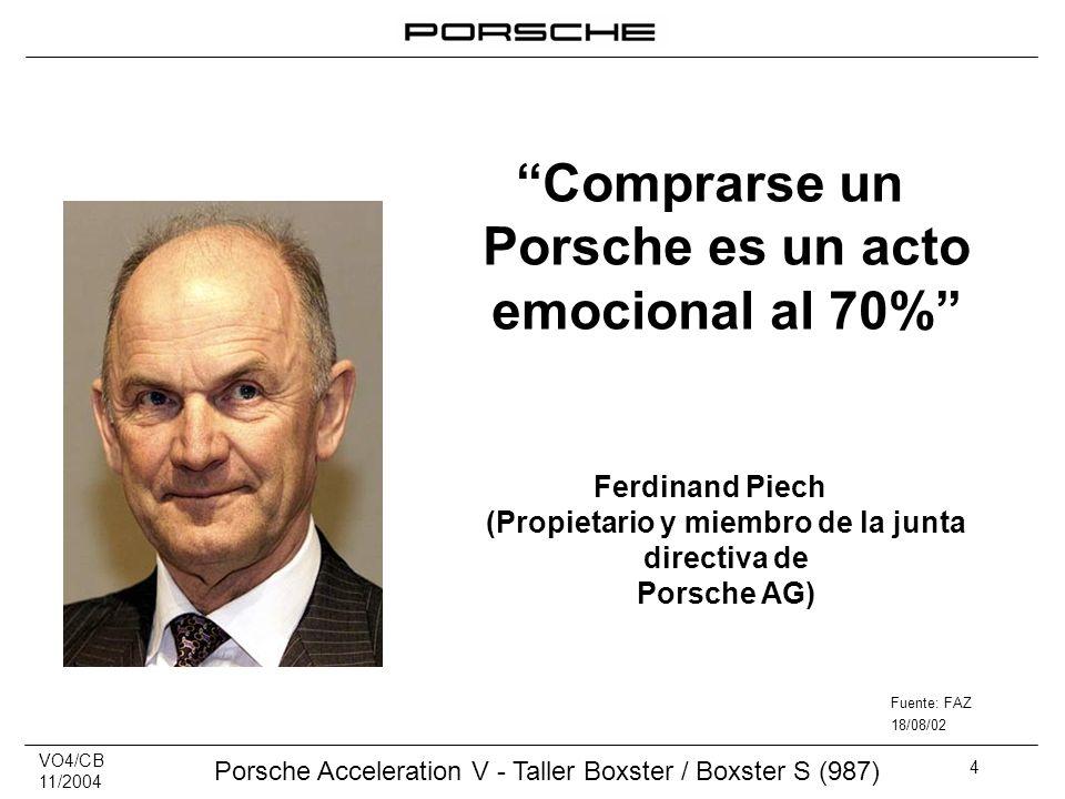 Comprarse un Porsche es un acto emocional al 70%