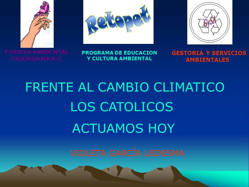 FRENTE AL CAMBIO CLIMATICO
