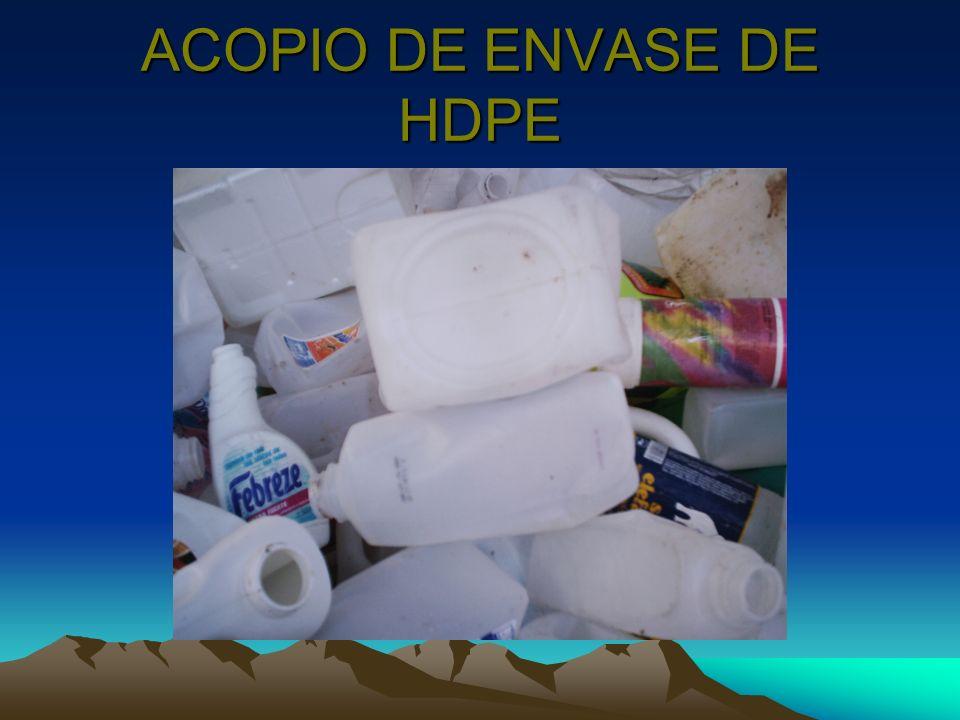 ACOPIO DE ENVASE DE HDPE