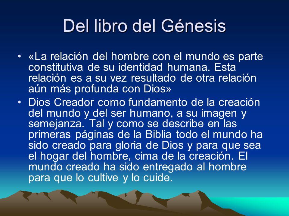 Del libro del Génesis