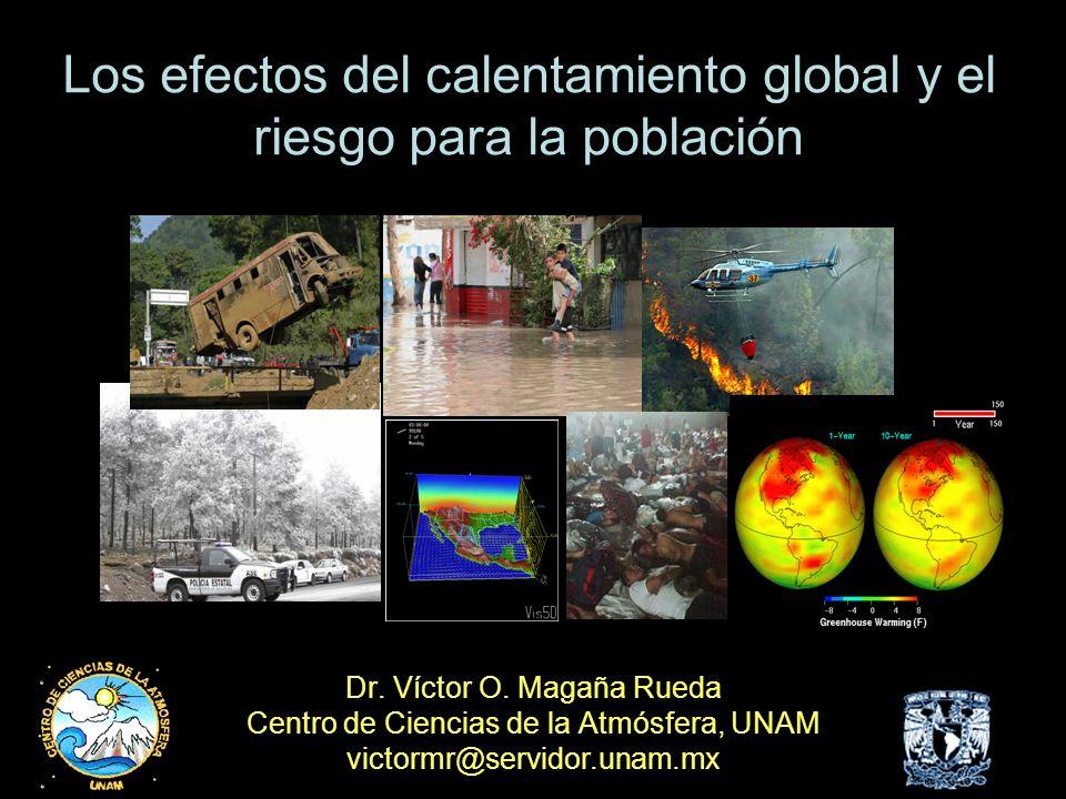 Los efectos del calentamiento global y el riesgo para la población
