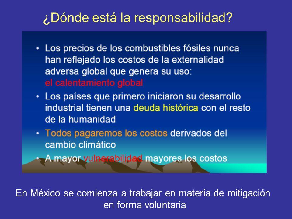En México se comienza a trabajar en materia de mitigación